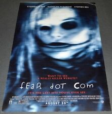 FEAR DOT COM 2002 ORIGINAL DS MOVIE POSTER! STEPHEN DORFF HORROR CLASSIC!
