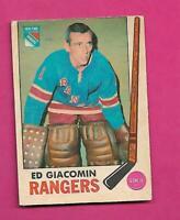 1969-70 OPC # 33 RANGERS ED GIACOMIN GOOD CARD (INV# D1918)