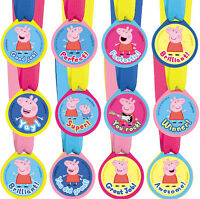Peppa Pig Party Supplies Favours 12 AWARD MEDALS Genuine Licensed