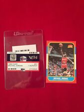 1986 FLEER BASKETBALL #57 MICHAEL JORDAN ROOKIE PSA ? AUTHTCT FAKE REPRINT