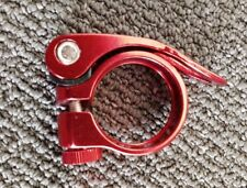 BRAND NEW 31.8 MM RED ANODIZED ALUMINUM QUICK RELEASE SEATPOST CLAMP/35 GRAMS