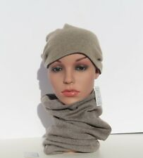 100% Cashmere Tube Knit Reversible Nepal A+ Yarn Hand Loomed Color:Natural Taupe