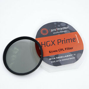 Promaster 67mm HGX Prime CPL Polarizer Filter With REPELLAMAX II  6844 DR6073