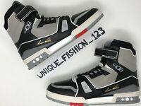 LOUIS VUITTON X VIRGIL ABLOH LV TRAINER BOOT US 10.5 UK 10 44.5 BLACK CEMENT 0ece1bc5f373