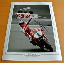 CARL FOGARTY SIGNED 16x12 Photo Autograph Superbikes Memorabilia See PROOF & COA
