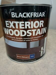 Blackfriar Exterior Wood Stain -brown Mahogany 2.5L Satin Finish