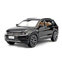 All New Tiguan L SUV 1/32 Model Car Diecast Gift Toy Vehicle Black Pull Back Kid