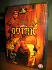 GOTHIC DVD COME NUOVO GABRIEL BYRNE KEN RUSSELL 1987 AUDIO ITA