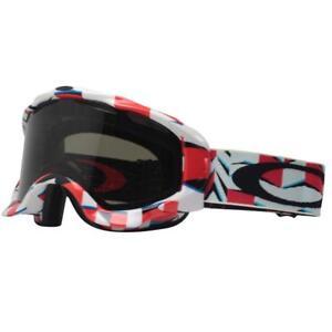 Oakley 57-403 Twisted Cubism Red Frame w/ Dark Grey Lens Mens Snow Ski Goggles