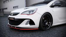 schwarze Spoilerlippe Frontspoiler Spoiler Diffusor Ansatz Opel Astra J OPC ABS
