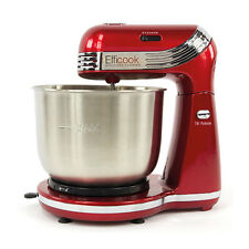 Efficook Retro Stand Mixer Blender Food Processor Whisk Red Stainless Bowl