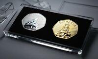 Pair of German Battleship BISMARCK Commemoratives & 50p Coin Display Case. WW2