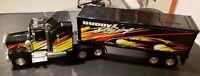 Vintage 1996 Empire MFG. Buddy L Racing Black Semi Truck and Trailer 970318