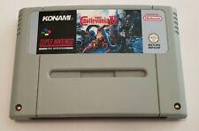 Castlevania IV Snes Super Nintendo PAL