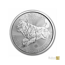 2018 1oz Canada Predator Series Wolf Canadian Silver Coin unc: NEW!