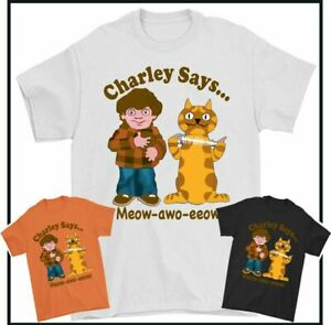 CHARLEY SAYS T-SHIRT, Advert Advertisement Commercial Drug Beer Cat Charlie Tee