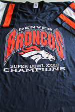 Adult XL Denver Broncos Superbowl XXXII Graphic Blue T-shirt By Logo 7