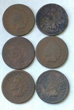 1865,1866,1867,1873,1874,1879 Indian Head cent pennies collection