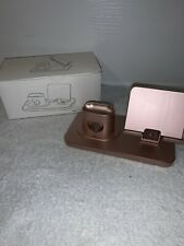 Rose Gold AICase 3 in 1 Charging Stand iPhone Apple Watch Air Pods BRAND NEW