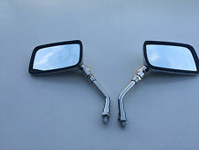 BRAND NEW CHROME E-MARKED RECTANGULAR Mirrors FOR HONDA NTV 650 93-97