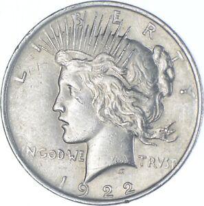 Choice AU/UNC 1922 Peace Silver Dollar - 90% Silver *270