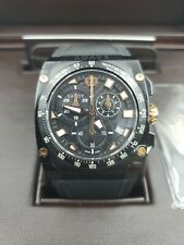 New Savoy Icon Extreme Chronograph 45MM Swiss Quartz Black PVD MSRP $1450