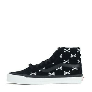Vans Vault UA OG SK8- Hi LX X WTAPS Bones Men's Trainers Shoes Black White