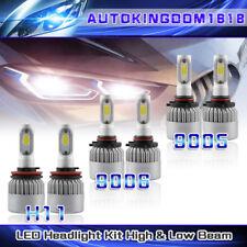 6PCS 9005 + 9006 + H11 Combo LED Auto Light High Beam Low Beam LED Fog Bulbs Kit