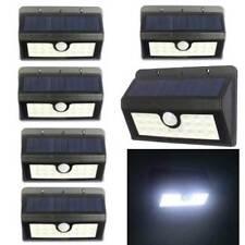 6 LAMPADA SOLARE DA ESTERNO GIARDINO FARETTO 20 LED FOTOVOLTAICO SENSORE LUCE