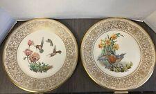 "Lenox 10.5"" Collector Plates 2 Limited Edition Boehm Birds- Robin Hummingbirds"