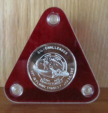 COMMEMORATIVE MEDAL OF THE 7 CREW MEMBERS OF THE CHALLENGER TRAGEDY JAN 28, 1986