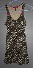 Betsey Johnson Intimates Animal Print Babydoll Lingerie Night Gown Womens Size S