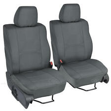 2pc Custom Charcoal Gray Cloth Seat Covers for Ford F-150 2004-08 Buckets
