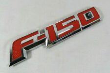FORD F150 EMBLEM 09-14 REAR TAILGATE RED/CHROME BADGE back sign symbol logo