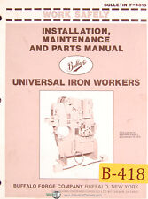 Buffalo Universal Ironworkers 1976 & Up, Install Maintenance & Parts Manual