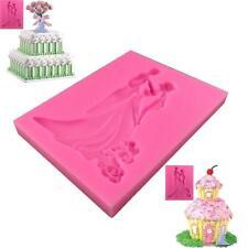 Bride Groom Fondant Silicone Sugar Mold Wedding Cake Decoration Dancing Topper L