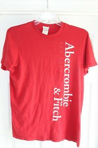 Abercrombie & Fitch Muscle Red Men's Large T-Shirt 100% Cotton Very Soft Materl