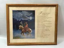 23rd Psalm An Indian Version - Native American Framed Art By Marianne Caroselli