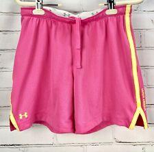 "Under Armour UA Skill Mesh Shorts Womens S Loose HeatGear Activewear 6"" Pink"