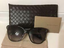 New BOTTEGA VENETA Cat Eye Sunglasses BV 187/S XKGBA Black Gradient Italy Made