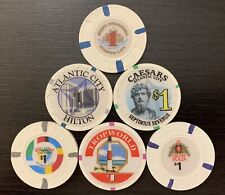 Atlantic City Casino Six $1 Chips — Uncirculated