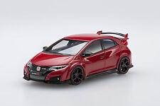 EBBRO 45354 1:43 HONDA Civic Type R 2015 UK license plate Milan Red