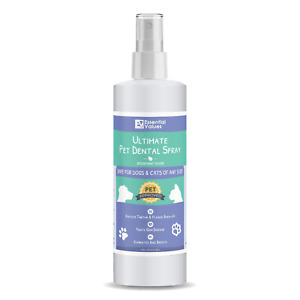 Essential Values 8 Fl OZ Pet Dental Spray & Water Additive for Dogs and Cats