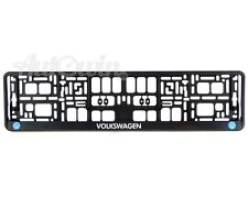 Volkswagen Euro Standart Vehicle License Plates Frames with VW Logo 1 pcs.