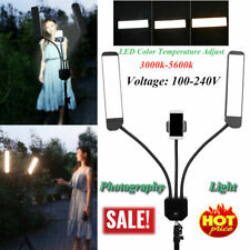 Dual Arm LED Dimmable Fill Light Photography Studio Makeup Tattoo  100-240V
