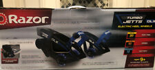 Razor Turbo Jetts Dlx Electric Heel Wheels with Lighted Wheels, Blue New In Box