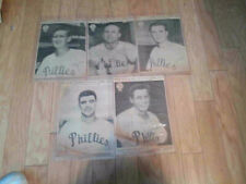 11 Diff Of 19 Phila Bulletin Newspaper Cut Out Phillies Portraits 1950