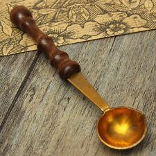 Brass Spoon Melting Wax Candle Granual Sealing Envelope Seal Stamp Craft (183)