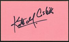 KATE DEL CASTILLO SIGNED 3X5 INDEX CARD ACTRESS LA REINA INGOBERNABLE EL CHAPO