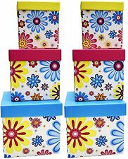 Alef Elegant Decorative Themed Nesting Gift Boxes -6 Boxes Beautifully Decorated